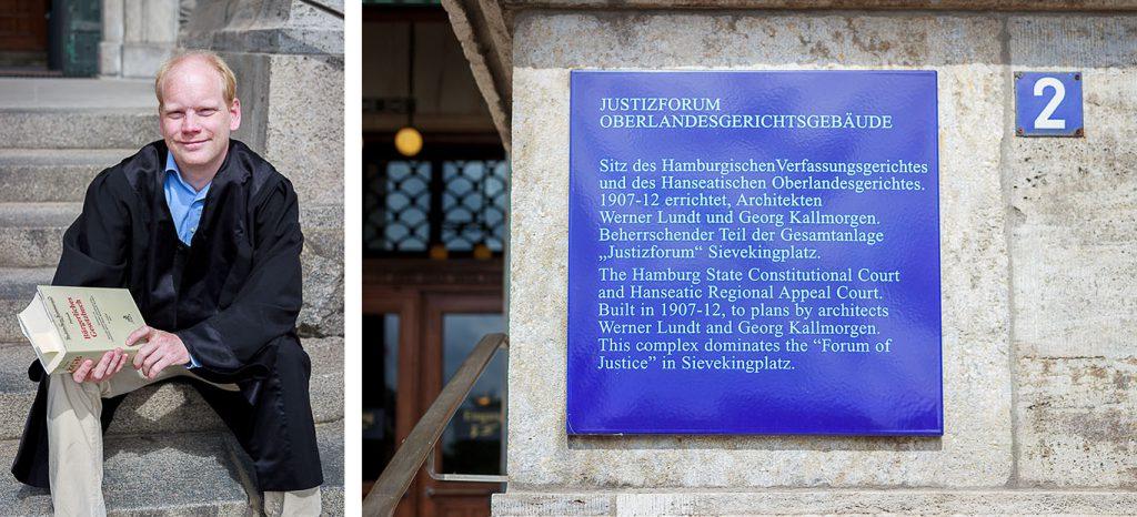 Matthias vorm Oberlandesgericht
