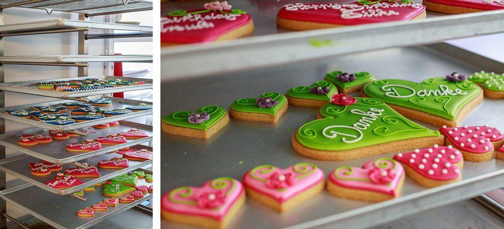 Kollage: Bunte Kekse