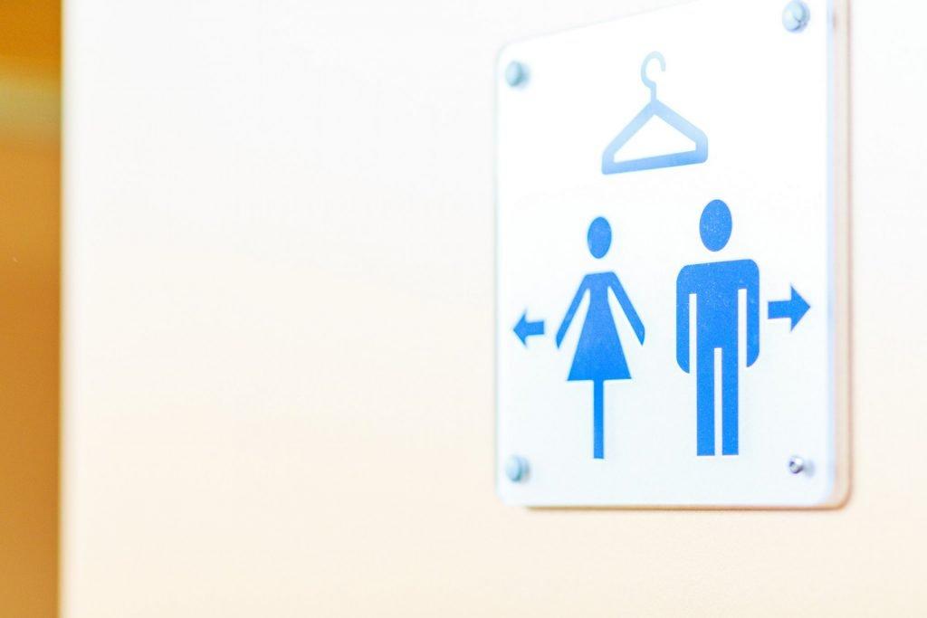 Schild für Herren- und Damenumkleide