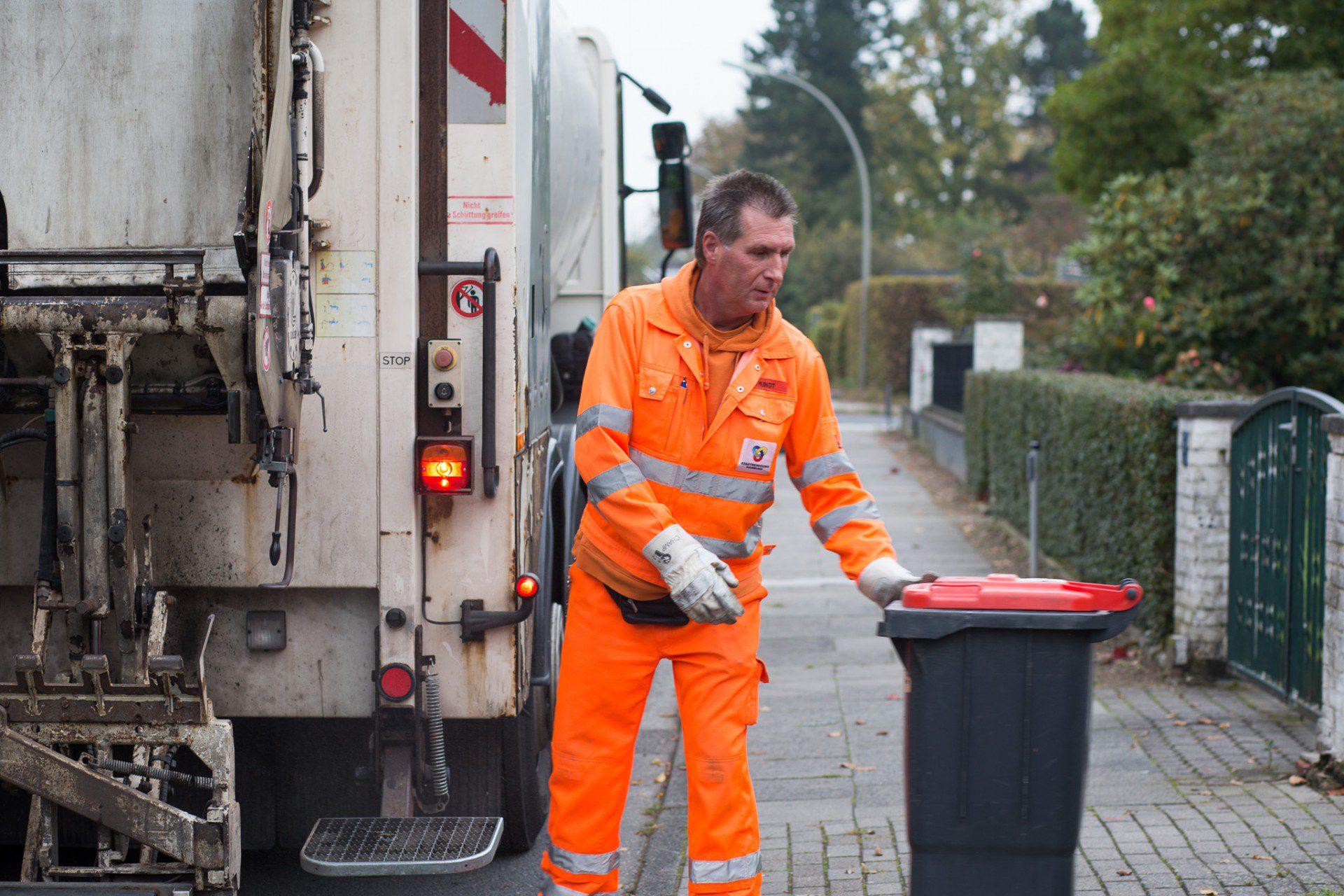Weg mit der Mülltonne