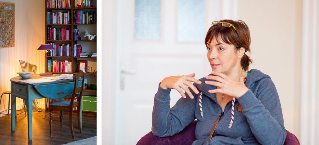40 Stunden - Kollage - Büroecke und Ann-Marlene Henning im Gespräch