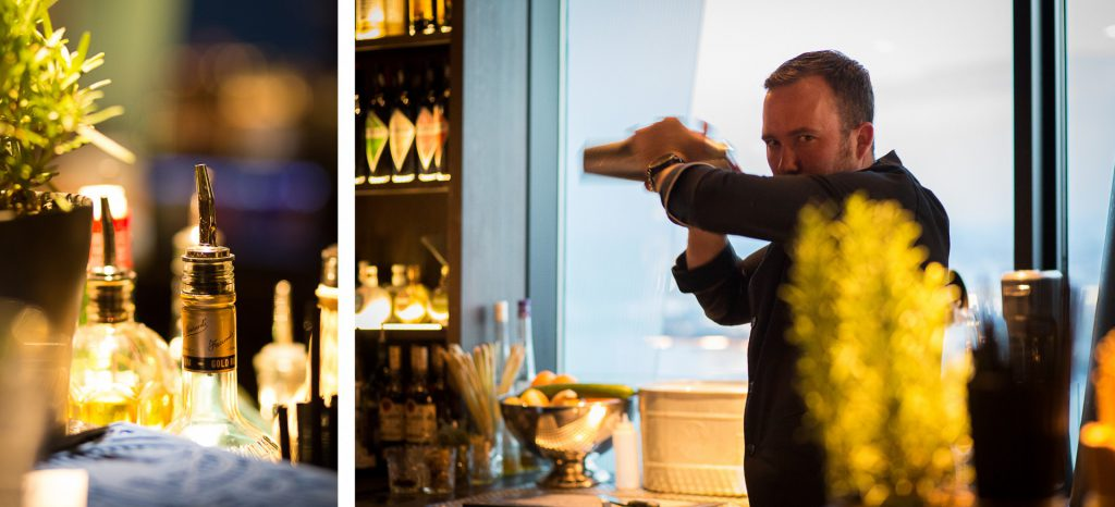 40 Stunden - Kollage - Richi shaket einen Drink