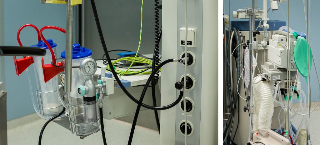 40 Stunden - Kollage - Geräte im OP