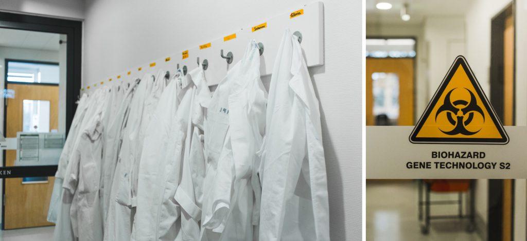 HIV-Forscherin Laborzeichen und weiße Kittel | 40Stunden