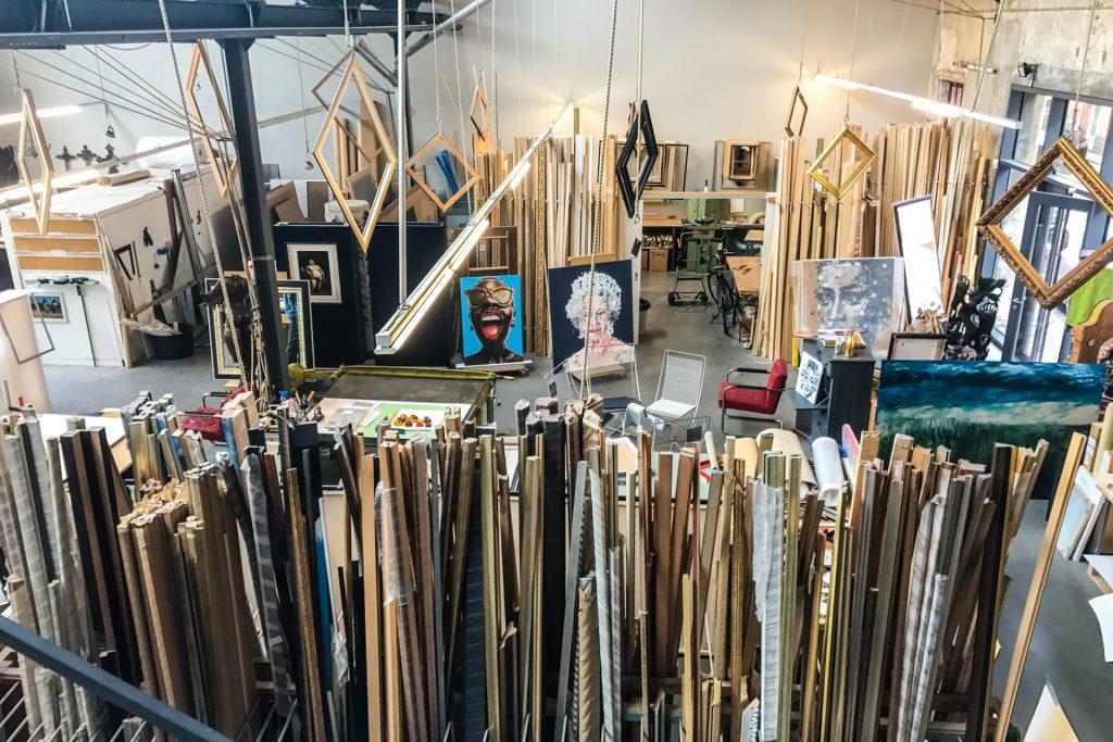 Blick in die Werkstatt von Frieda Kappich