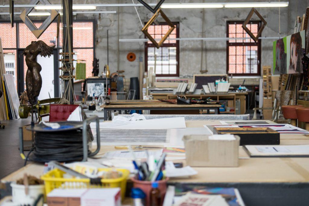 Blick in die Werkstatt von Frieda Kappich von außen