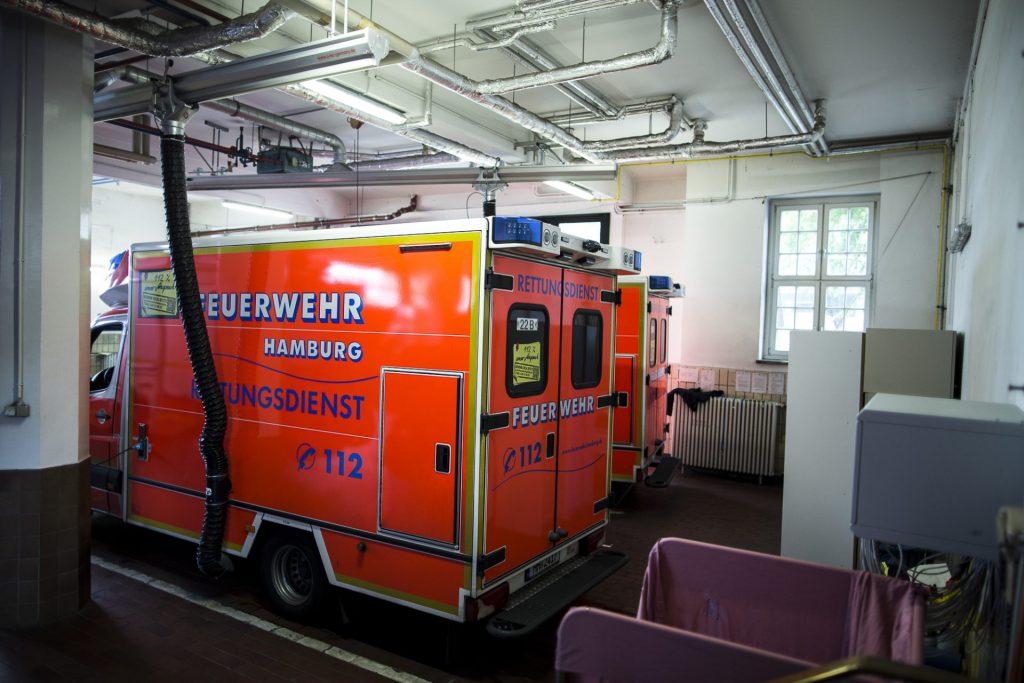 RTW in der Feuerwehrwache