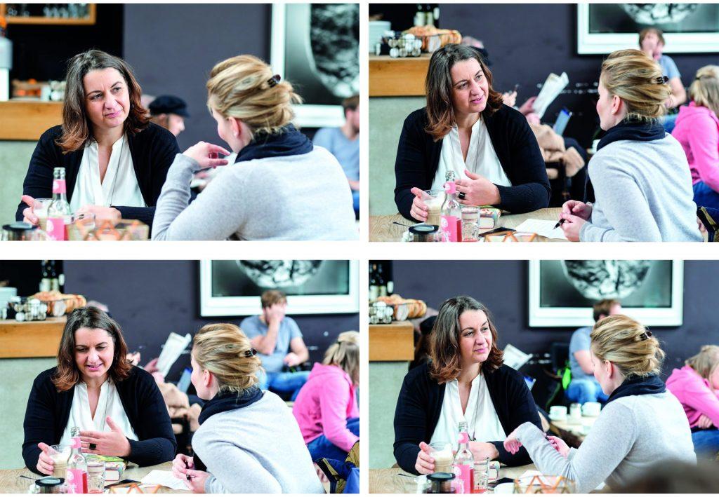 Gespräch im Cafe mit Romy Fölck und Julia Kottkamp_40Stunden